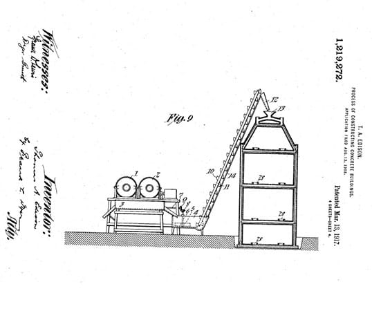 Thomas Edison's U.S Patent explaining the process of his design.