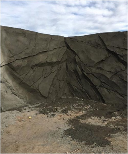 Shotcrete – feature wall for a pond